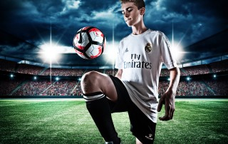 A soccer hero poster image.